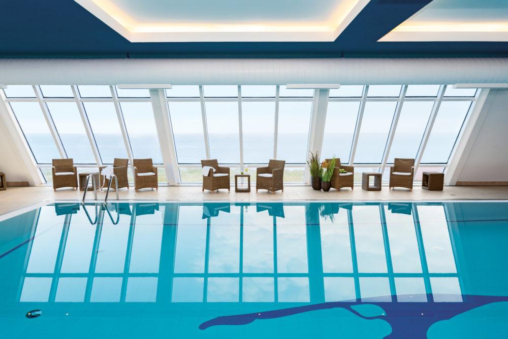 Wyn Strandhotel Sylt Spa Bereich Pool Mit Panoramablick
