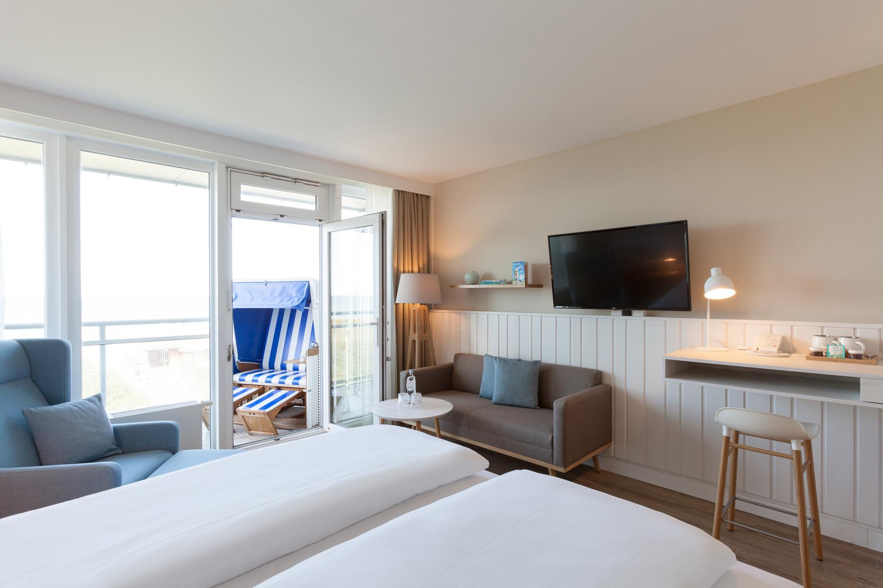 Wyn Strandhotel Sylt Zimmeransicht Buhne