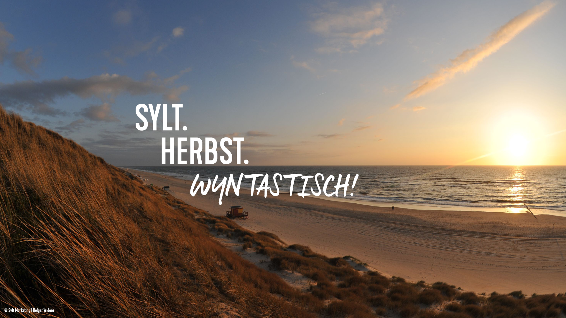 Herbsturlaub am Strand von Sylt mit Sonnenuntergang