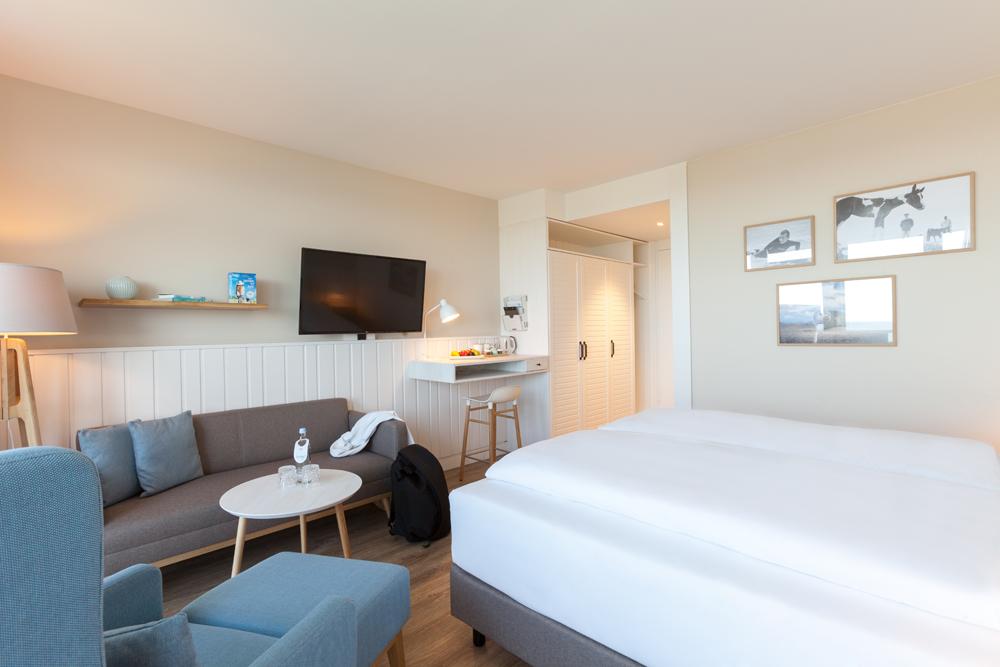 Hotelzimmer Land in Sicht zu Ostern im Wyn. Strandhotel Sylt buchen