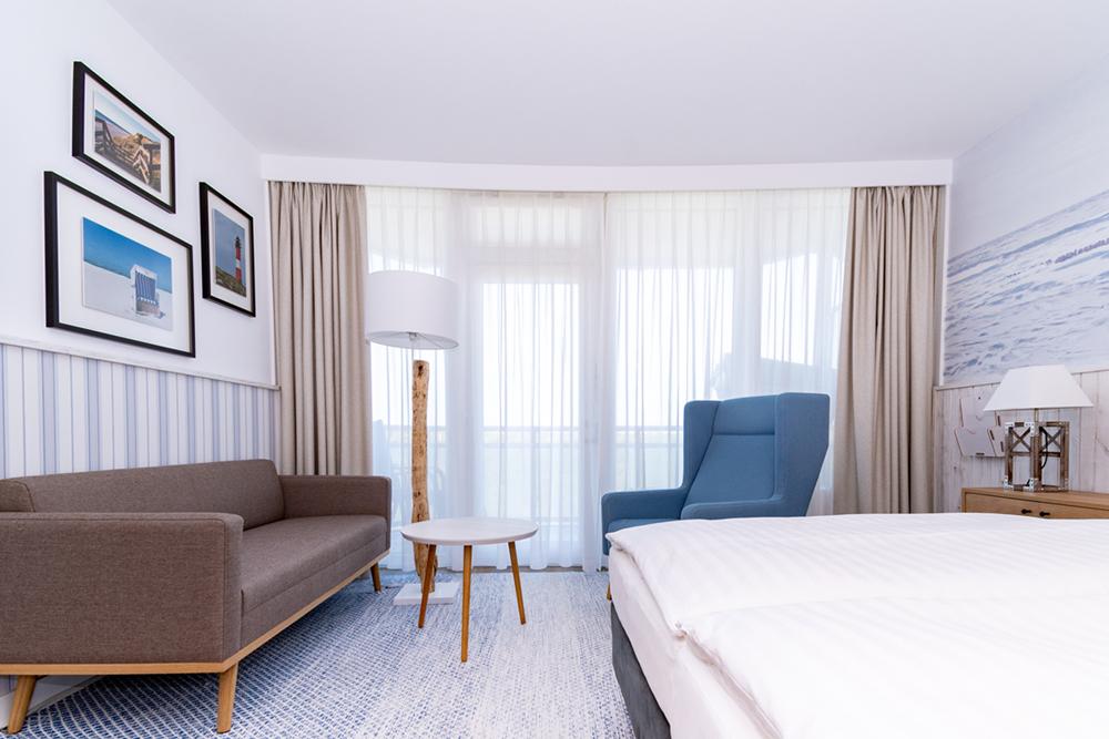 Hotelzimmer für den Sommerurlaub auf Sylt im Wyn. Strandhotel Sylt buchen