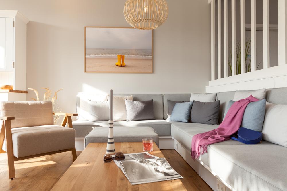 Im chilligen Wohnzimmer fühlen Sie sich die Gäste besonders wohl.
