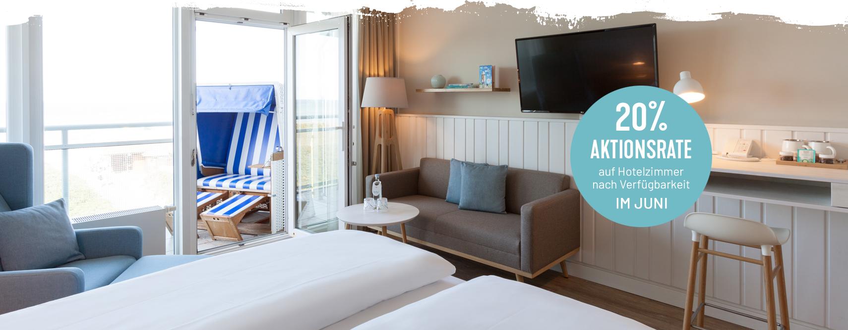 Hotelzimmer mit kostenfreier Stornierung im Wyn. Strandhotel Sylt buchen