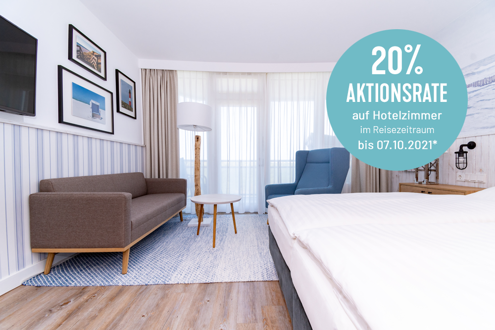 Hotelzimmer im Wyn. Strandhotel Sylt mit Aktionsrate buchen und sparen