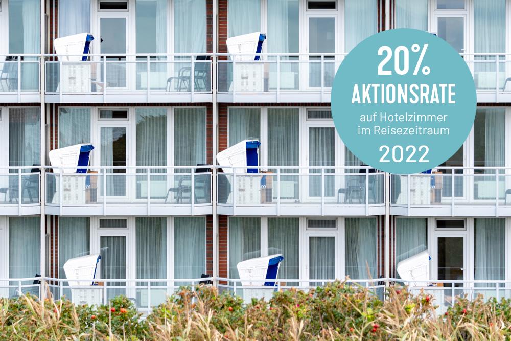 Sylt Urlaub 2022 im Wyn. Strandhotel Sylt mit Aktionsrate auf Hotelzimmer buchen