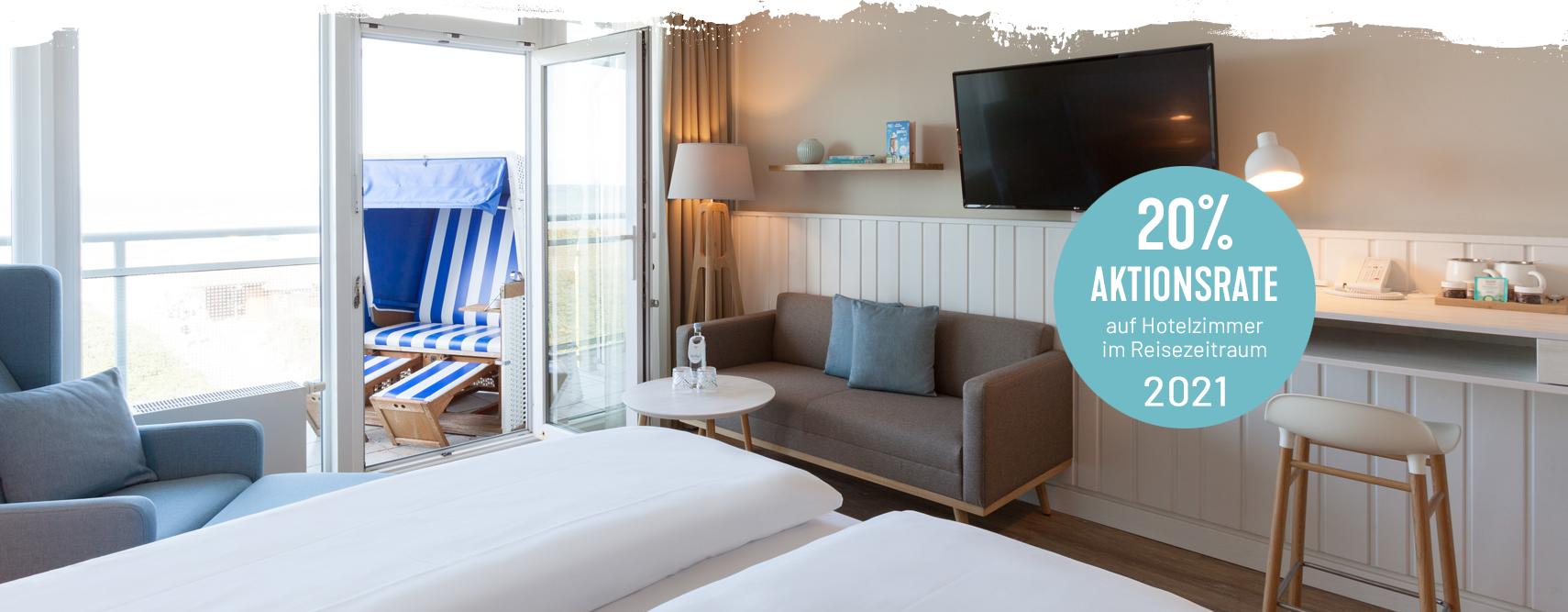 Hotelzimmer mit Aktionsrate im Wyn. Strandhotel Sylt buchen